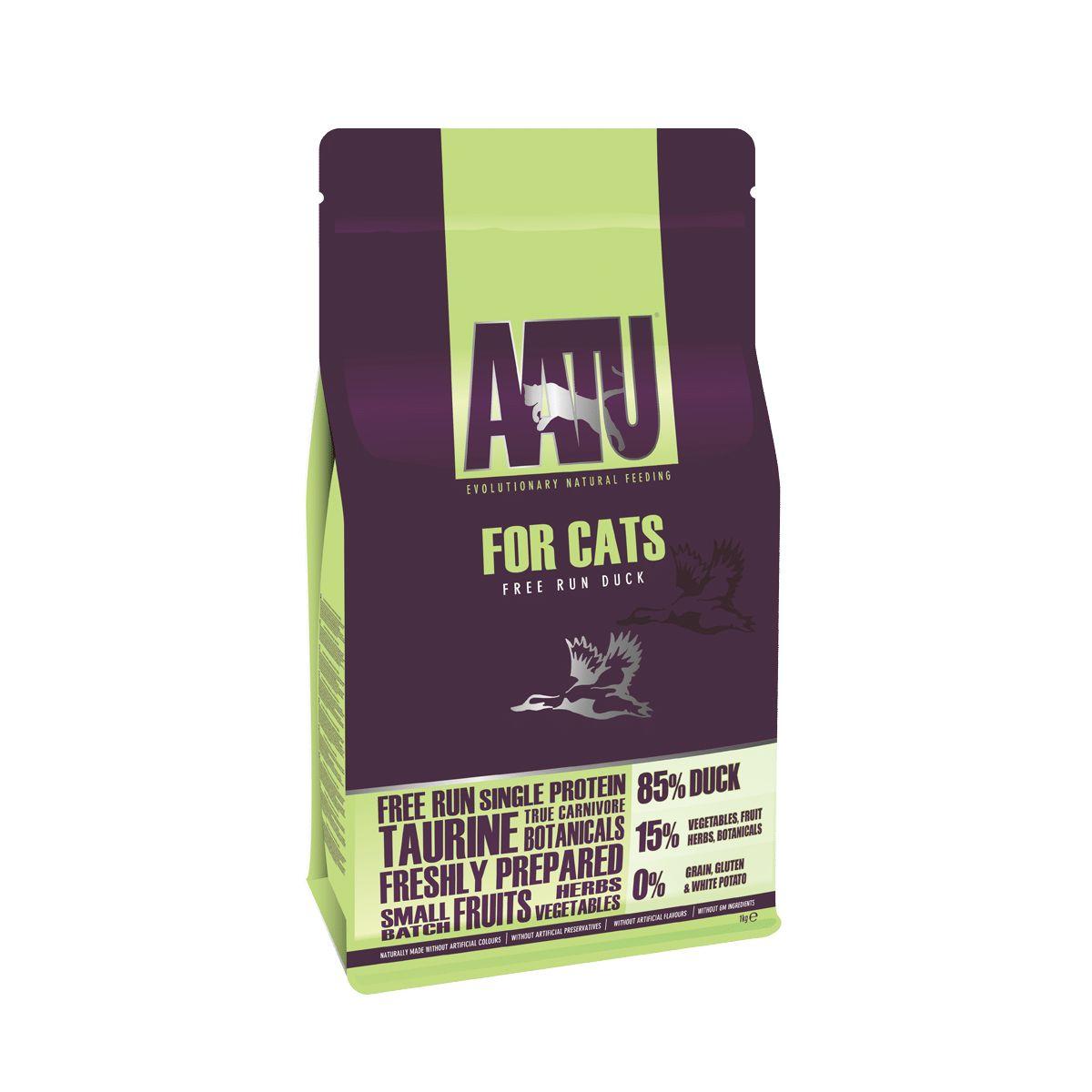 croquettes chat AATU canard ses céréales et gluten free