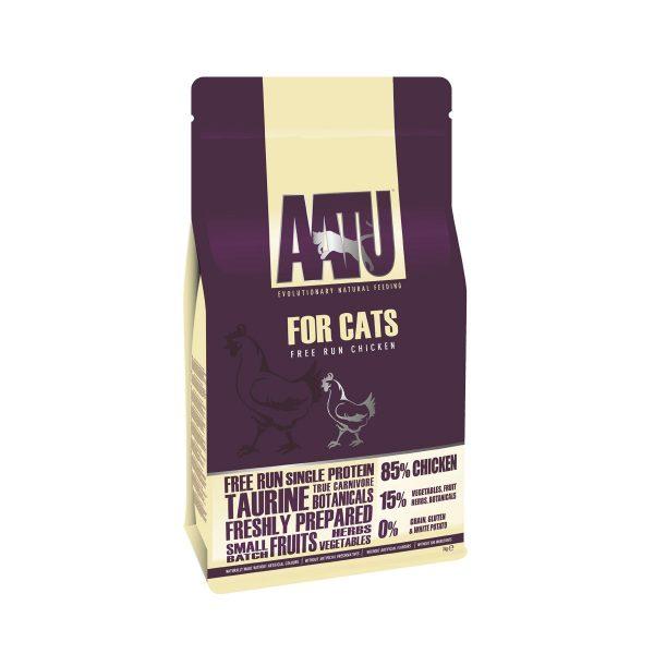 croquettes chat poulet AATU sans céréales et gluten free