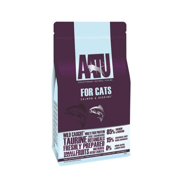 croquettes chat saumon hareng AATU sans céréales et gluten free