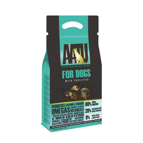 croquettes chien poisson crustacés AATU sans céréales et gluten free