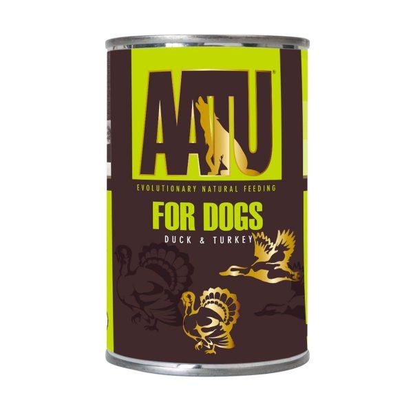 pâtée chien canard et dinde AATU sans céréales et gluten free