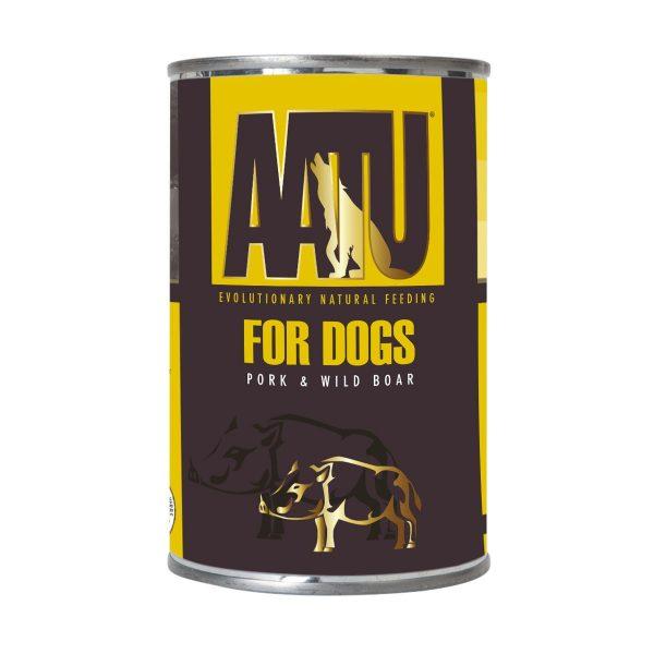 pâtée chien porc et sanglier AATU sans céréales et gluten free