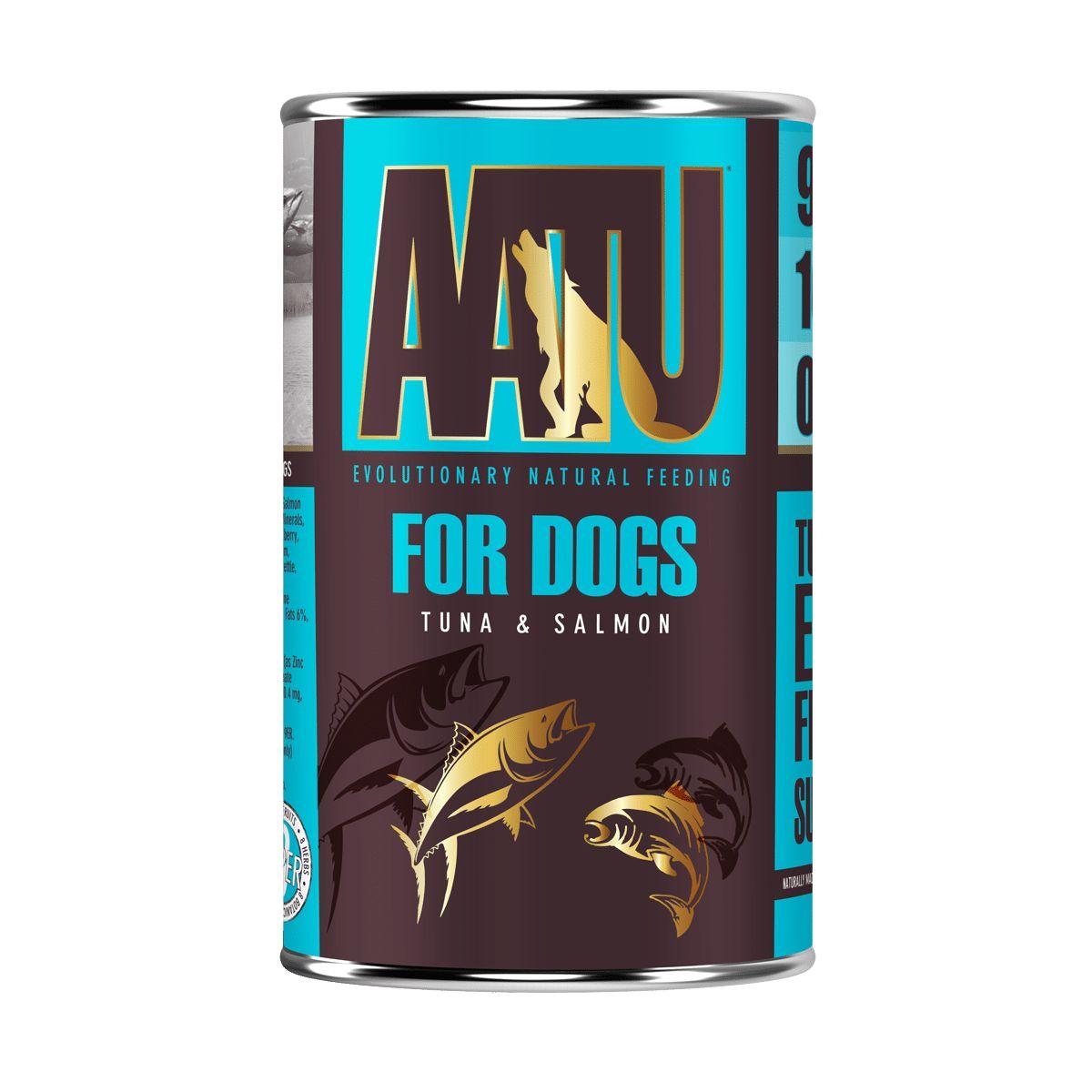 pâtée chien thon saumon AATU gluten free et sans céréales