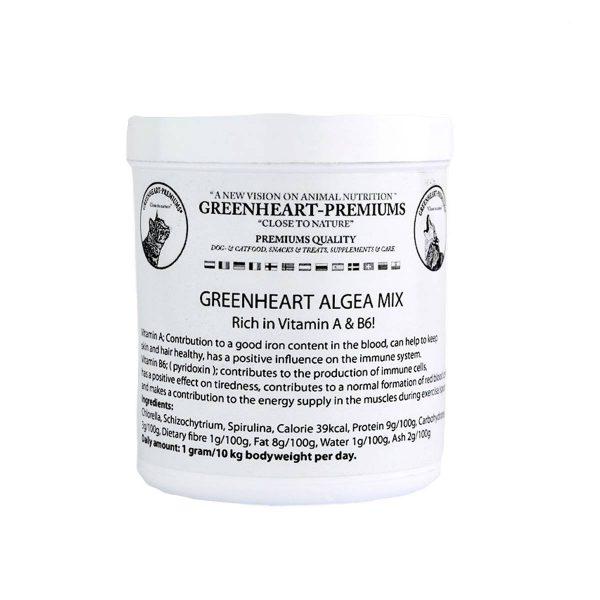 complément alimentaire poudre d'algues pour les chiens Greenheart Premiums
