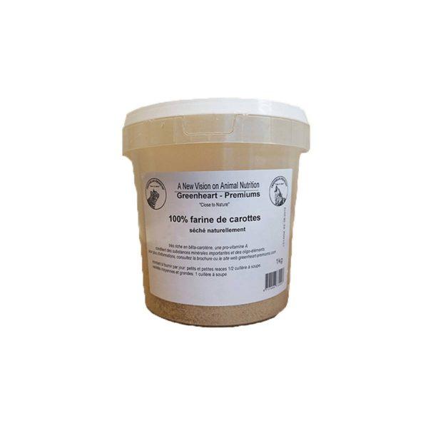 farine de carotte chien, chat Greenheart Premiums 100% naturelle