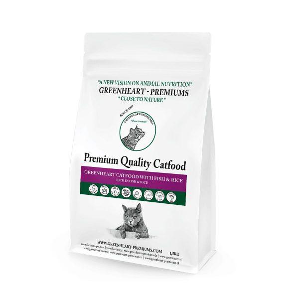 croquettes chat poisson et riz greenheart premiums