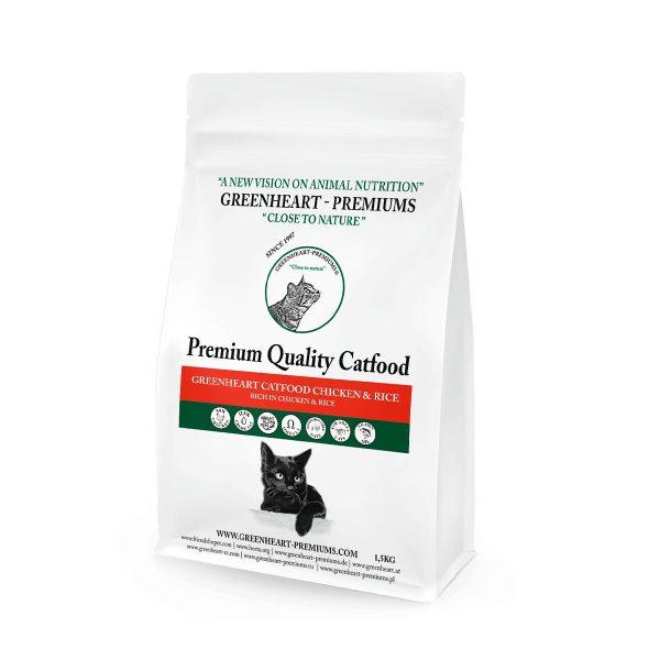 croquettes chat poulet riz naturelles et saines greenheart-premiums