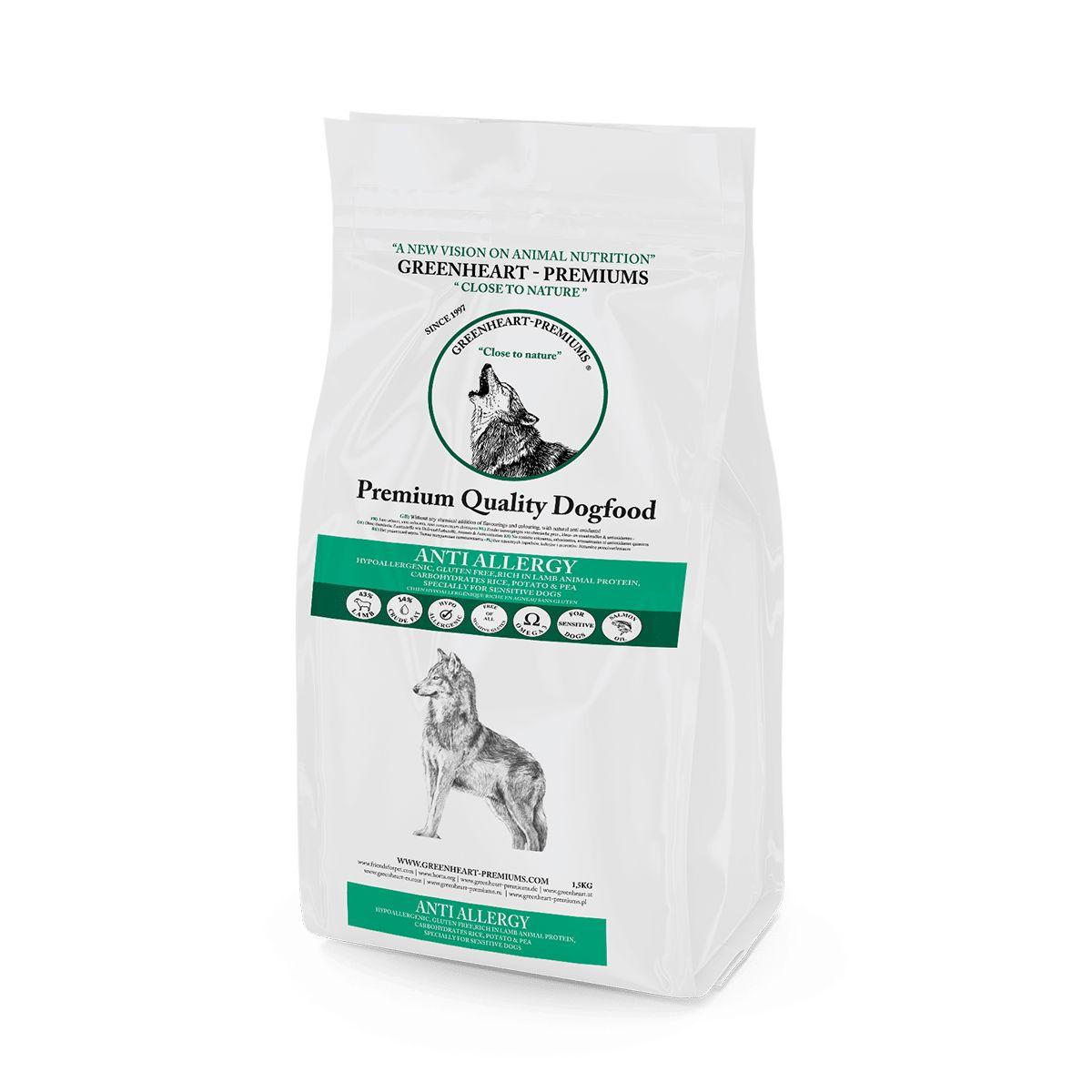 croquettes Anti Allergy Greenheart Premiums pour chiens sensibles