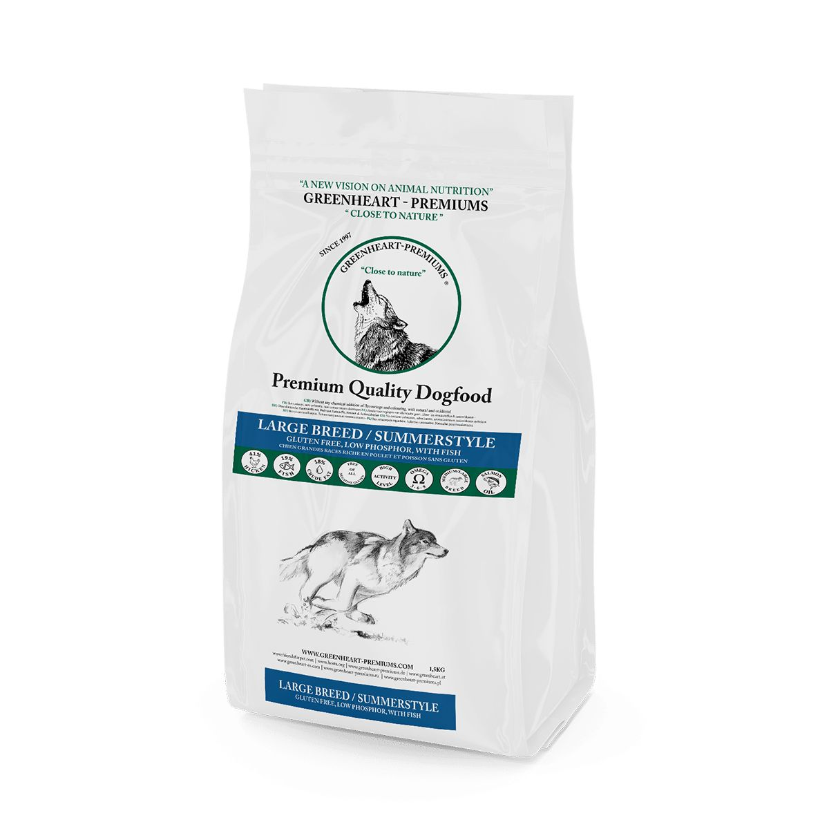 croquettes chien Large Breed Greenheart Premiums gluten free