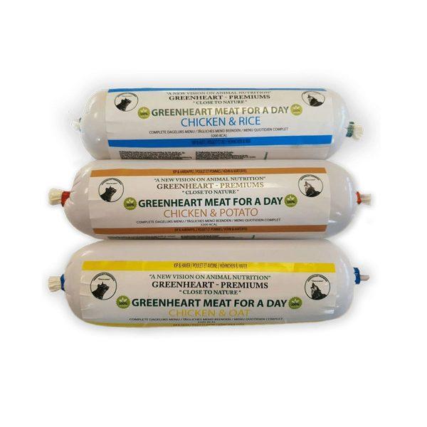 saucisse de viande greenheart-premiums pour chien