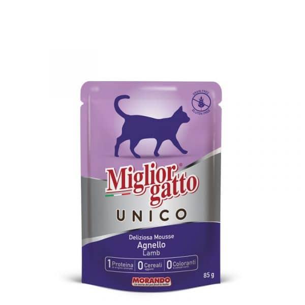 sachet fraîcheur chat 100% agneau Unico sans céréales sans gluten