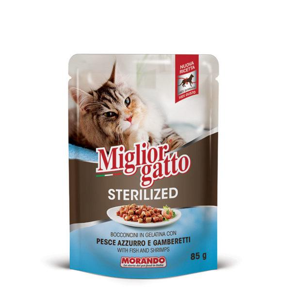 sachet fraîcheur chat sterilized morceaux en gelée
