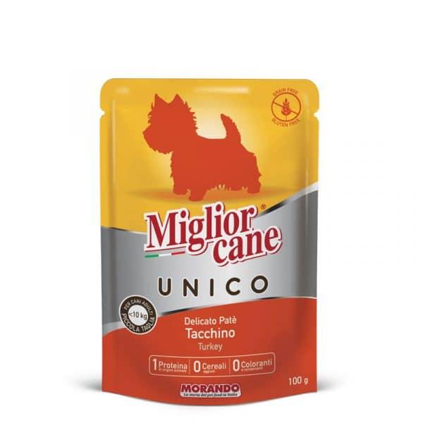 sachet fraîcheur chien dinde Unico sans céréales et sans gluten