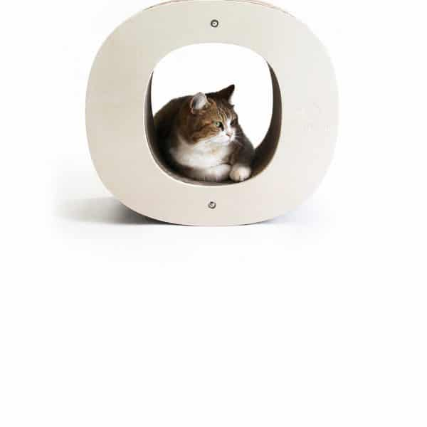 Griffoir chat recyclable lettre O Homycat