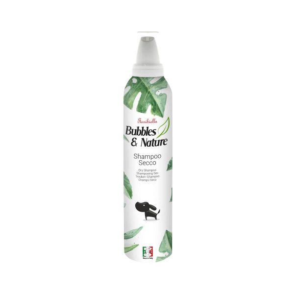 Shampoing sec mousse Ferribiella pour les chiens et les chats.