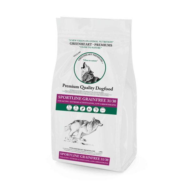 Croquettes-Chien-Sportline-Grain-Free-31-30-Greenheart-Premiums