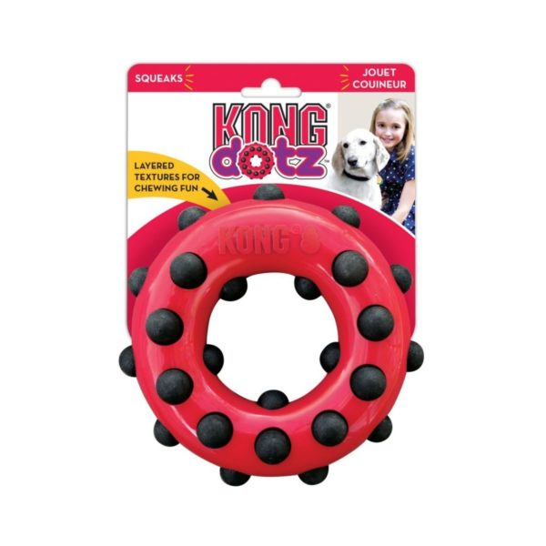 Jouet Kong Dotz Circle pour chiens