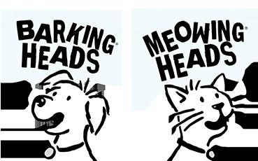 Logo Barking Meowing Heads