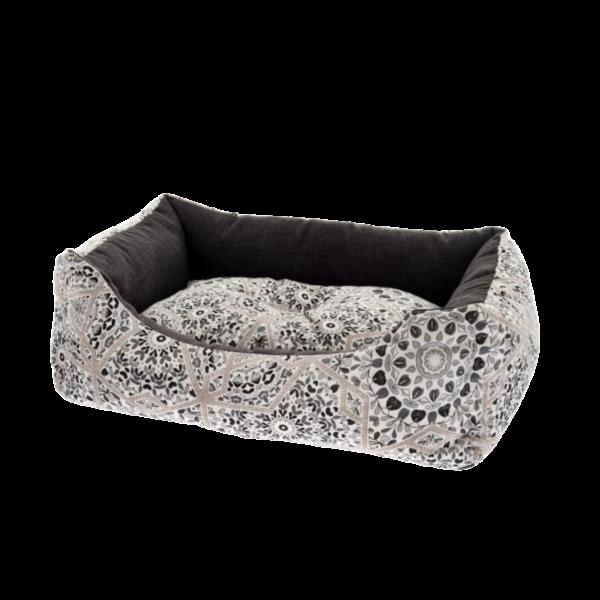 Ferribiella lit pour chien et chat rectangulaire à motifs- 3 tailles- coussin amovible